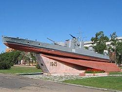 Бронекатер установлен на набережной реки Амур. Фото: Wikipedia.org