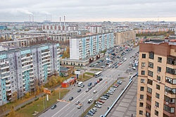 Вид на Сургут с высоты. Фото: Wikipedia.org