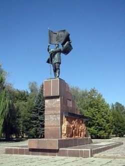 Памятник работникам рудника. Фото: Wikipedia.org