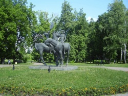 Скульптура у истока реки Дон в городском парке. Фото: Wikipedia.org
