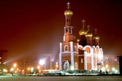 Храм Рождества Христова ночью. Фото: Wikipedia.org